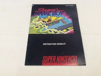 Super GameBoy Instruction Booklet Only For SNES