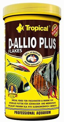 Tropical D-allio Plus Flakes food with garlic for discus  500ml 1000ml