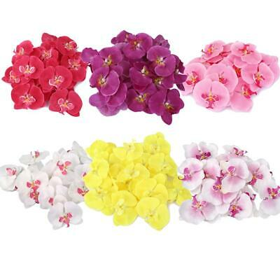 20x Various Artificial butterfly orchid Corsage Wrist Hair Flower Wedding Decor