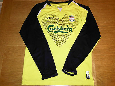 REINA Liverpool Football Goalkeepers Shirt /Goal Keepers Top - Large Boys 30/32