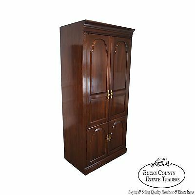 Ethan Allen Solid Cherry Georgian Court Entertainment TV Cabinet Armoire