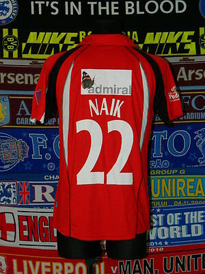5/5 Leicestershire Foxes adults M #22 NAIK  cricket shirt jersey