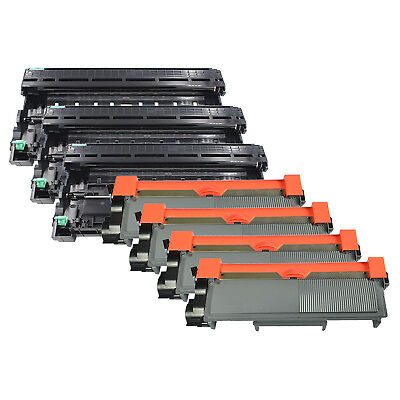 4 x Black TN-660 TN660 TN-630 Toner 3 DR-630 For Brother DCP-L2540DW HL-L2340DW