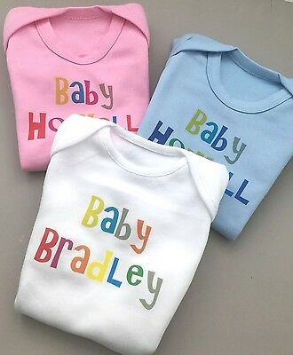 Custom Baby Grows Personalised Babies Clothing 5 95 Picclick Uk