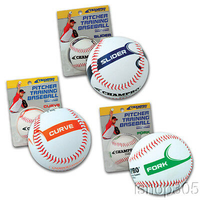CHAMPRO Pitcher Training Baseball Develop Your Slider, Curve or Fork  CBB82