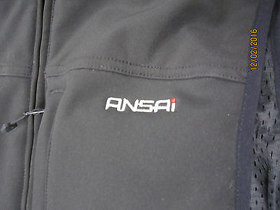 Ansai Mobile Warming Rechargable Battery Operated Heated Vest Mens Large Black