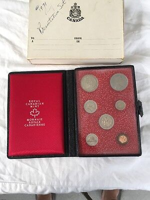 Royal Canadian Mint Set-Yr:1971-  Seven Coins In Case
