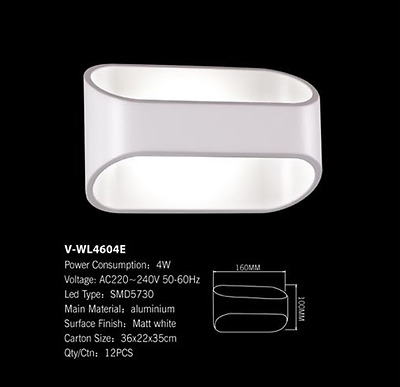 Aplique de Pared LED Blanco 4w