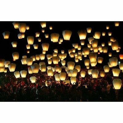 Creatov Toys 50 Piece Premium Quality Chinese Flying Sky Lanterns White