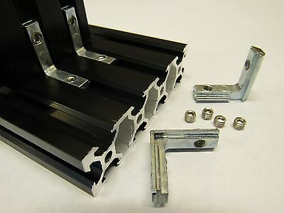 Inside Hidden Corner Bracket - 90 degree - M5 set screws - 20 x 20 mm extrusion