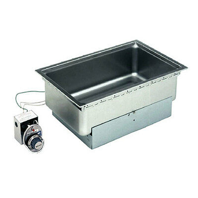 "Wells SS-206TD Built-In 12"" x 20"" Hot Food Well w/ Thermo. Control & Drain"