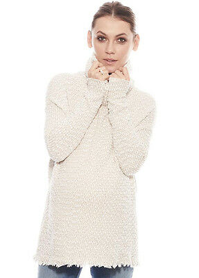 NEW - Imanimo - Kiki Turtleneck Sweater in Cream - Maternity Jumper