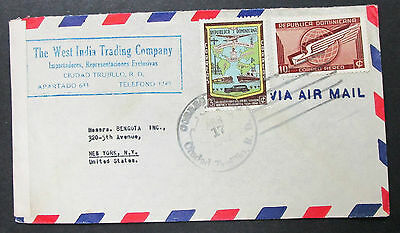 Dominican Republic Airmail ADV Cover West India Trading Co. Lupo Brief (H-8517