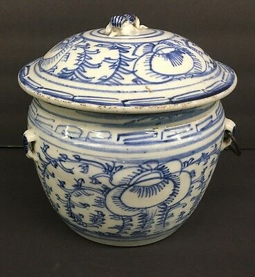 Antique Chinese Ginger Jar w Lid