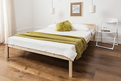 Double Bed Pine 4'6  Double Bed Wooden Frame ,  Sussex Collection