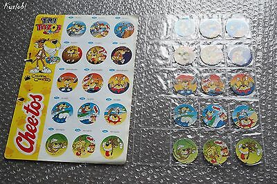 RARE Collection 15 Chips POG Super lot 136A à 140C Chester Chee Tos • Tri Tazos