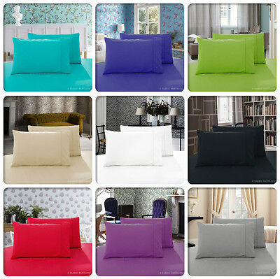 Pair of QUEEN / KING/STANDARD Size Pillowcases - 1000TC Microfibre 10 Colours