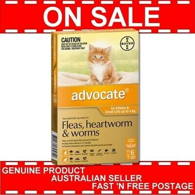 Advocate for Kittens and Small Cats Orange Up to 4kg 6 Pack Exp. 01/19