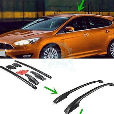 For Ford Focus 2012-2015 2PC Black Aluminum Alloy Roof Rack Main Body Decoration