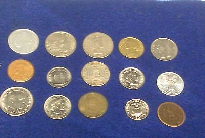 (15) Lot of Old World Coins **Germany--Italy--Mexico--** 1904 Mexican 1 Peso