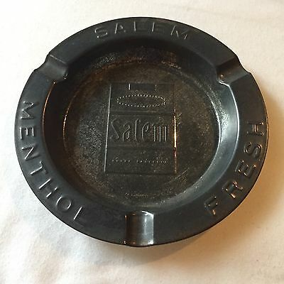 Salem Cigarettes Ashtray Menthol Collectible Antique Rustic Bar Brew Pub Tin