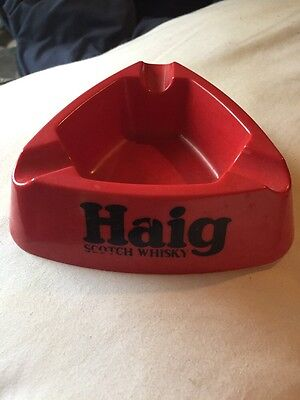 Haig Scotch Whiskey Ashtray Collectible Antique Rustic Bar Brew Pub