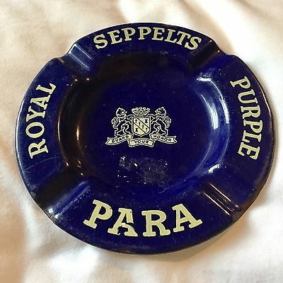 Royal Seppelts Purple Para Ashtray Collectible Antique Rustic Bar Brew Pub