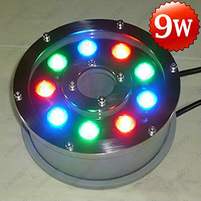 9W LED Underwater Lamp Outdoor Flood Light Swimming Pool Fountain Waterproof 12V