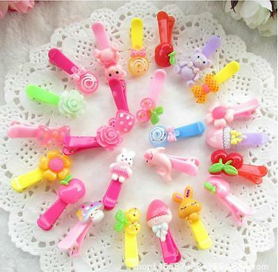 Wholesale 20 pcs Mix Cartoon Styles Assorted Baby Kids Girls HairPin Hair Clips