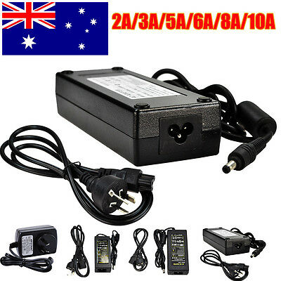 2A 5A 6A 10A 12V DC Power Supply Charger Adapter Transformer 3528 5050 LED Strip