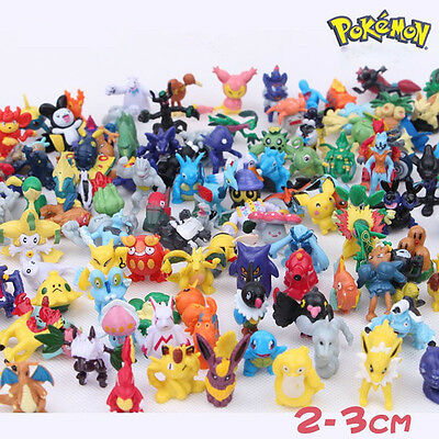 Hot 1/12/24X Pokemon Action Figures Toys Pikachu Monster Small Toys Gift