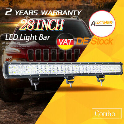 28INCH 180W Cool White Led Work Light Bar SPOT FLOOD COMBO Offroad SUV EU Stock