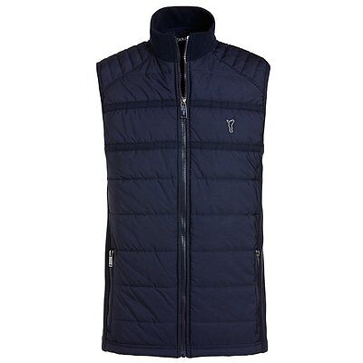 Golfino mens Fleece Stepp Weste, navy, large, UVP 199€