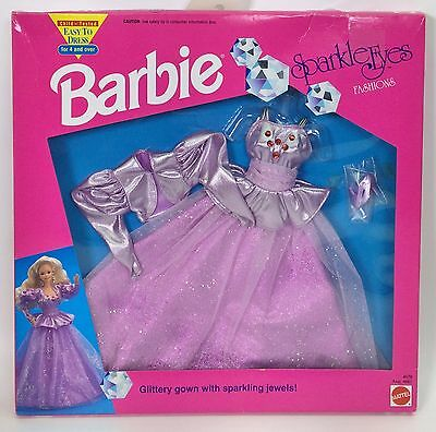 Barbie Sparkle Eyes Fashions 4678 Lavender Gown Nrfb