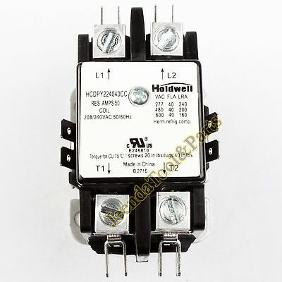 Holdwell 45GG20AG 2 Pole 40 Amp 240V Coil Definite Purpose Contactor