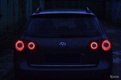 VW Passat led lamp B6 3C Skyline style LED ring lamp Inner Tail Lights bicolor