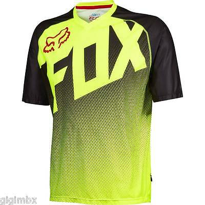 FOX CAMISETA MOUNTAIN BIKE MTB FLOW SS JERSEY AMARILLO FLUO abajo hill