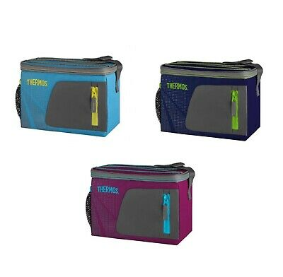 NEW THERMOS RADIANCE 6 CAN SOFT COOLER Storage Bag Beach Picnic  BBQ 3 COLOURS