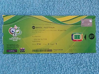 2006 - WORLD CUP 2006 ORIGINAL MATCH TICKET - BRAZIL v AUSTRALIA