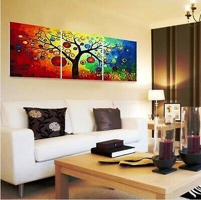 (Framed/Frameless) Set of Three Painting By Number Kits S5 F3P009 Colorful Tree