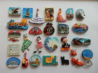 One Selected 3D Souvenir Fridge Magnet from Spain