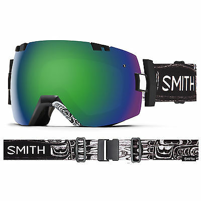 Smith IOX Ski Snow Goggle OTG Compatible Abma Green Sol X and Red Sensor Lenses