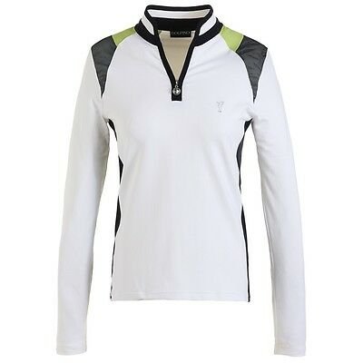 Golfino lady Dry Comfort Troyer mit langem Arm, Optic white, UVP 139€