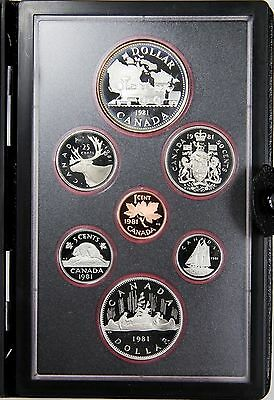 Canada 1981 Double $ Proof Set, Coins in Holder, Trans-Canada Railway