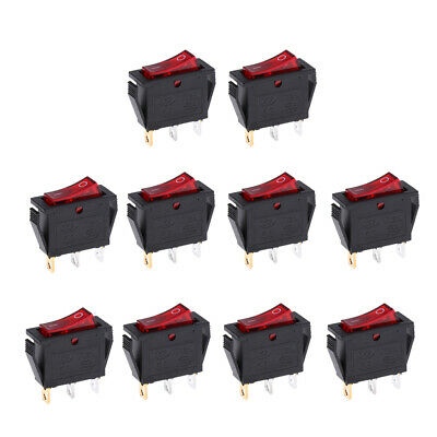 10pcs Momentary SPDT 3P Rocker Switch 2 Circuits On-Off