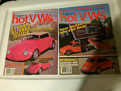 Lot of 12 hot vw,s  magazines  1985  full year