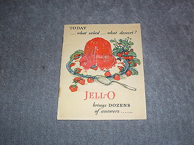 Vintage 1928 Jell-O Cookbook. 23 pages of classic recipies, color photos - rare