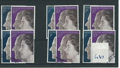 wbc. - GB WHOLESALE - 1972 - ROYAL SILVER WEDDING - F167 - SIX SETS - FINE  USED