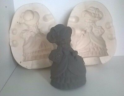 Ceramic Slip Casting Mold  No Marking Girl With Flowers