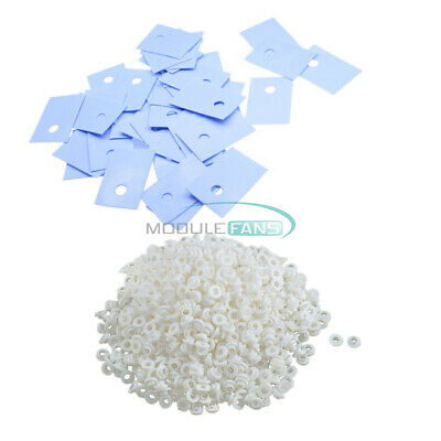 100PCS White Transistor Plastic TO-220 Washer Insulation Washer + Pads Silicone